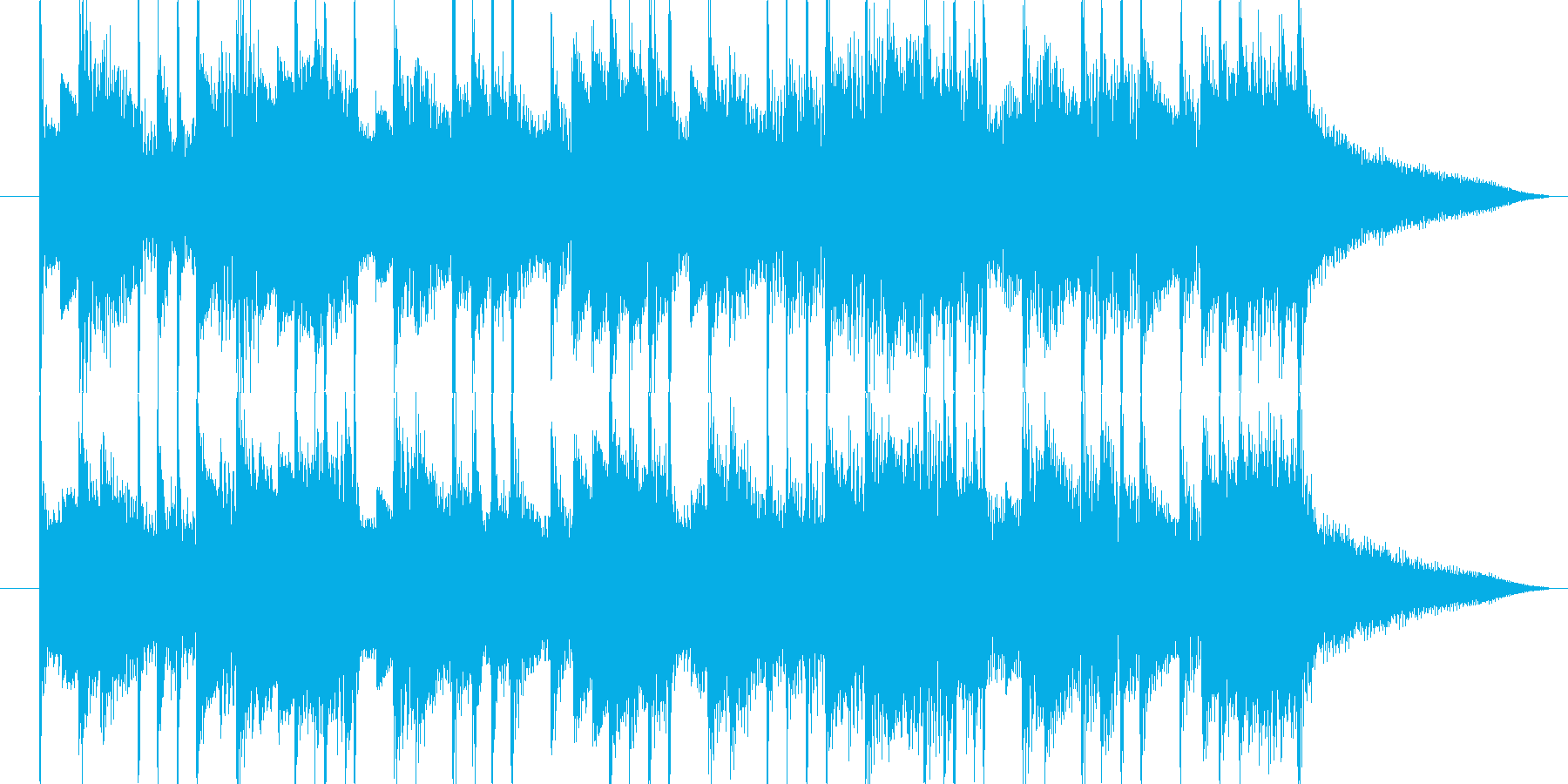 クリーンギターで爽やかな感じを出しましたの再生済みの波形