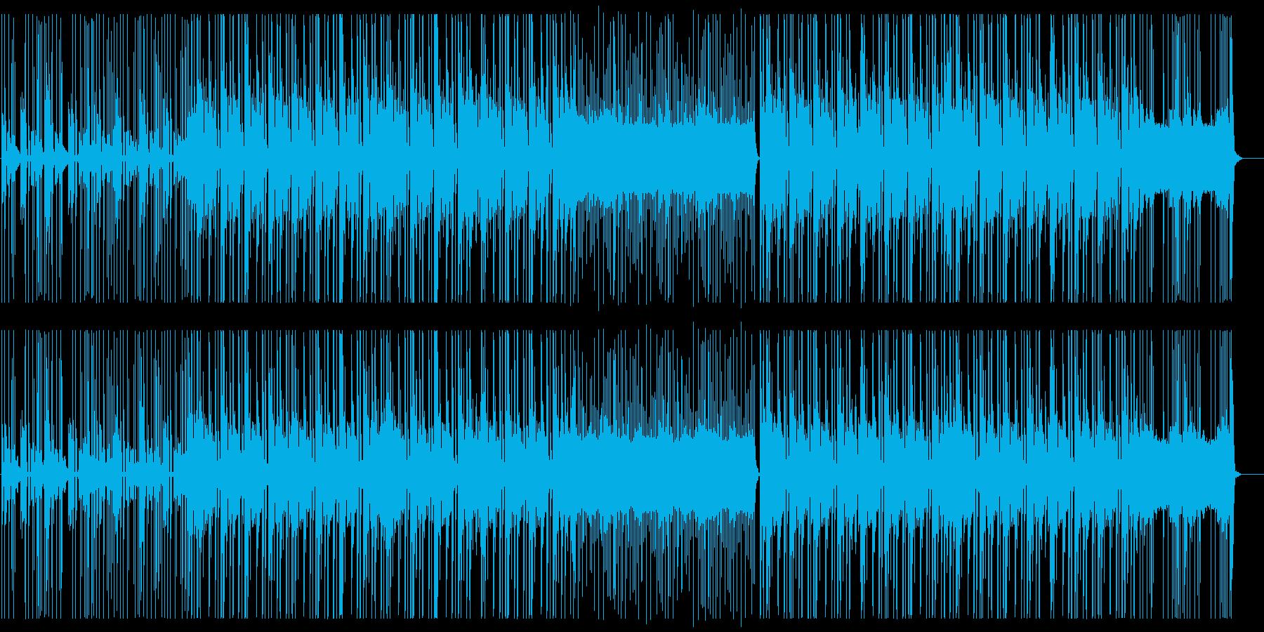 緊迫したイメージのヒップホップの再生済みの波形