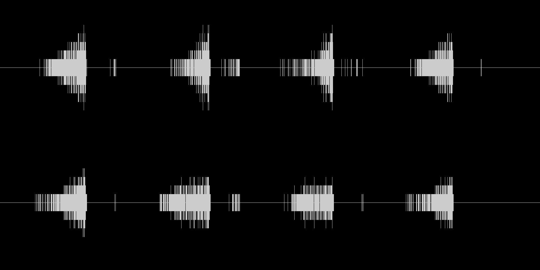 起動・アクセス音(ノイズ)の未再生の波形