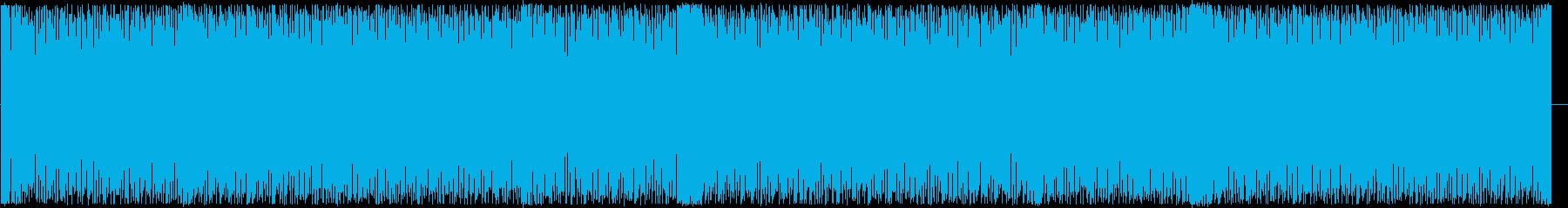 迫力あって力強くかっこいい音楽の再生済みの波形