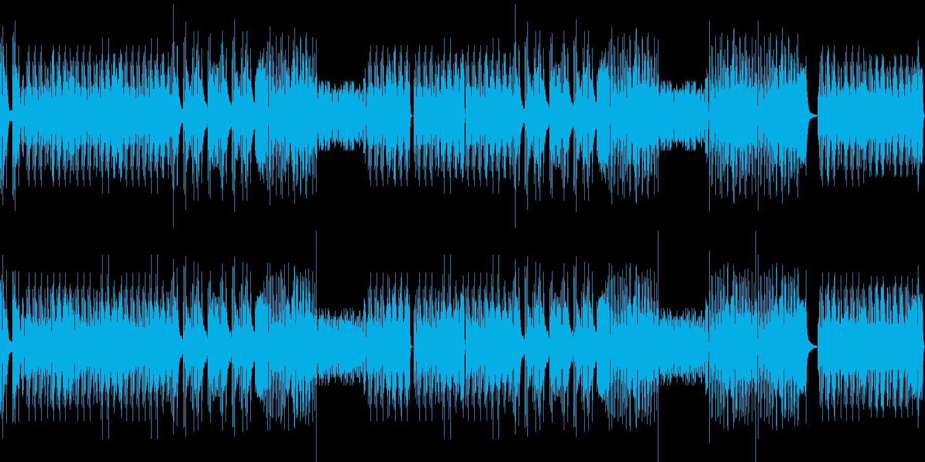爽快感溢れるピアノソロの再生済みの波形