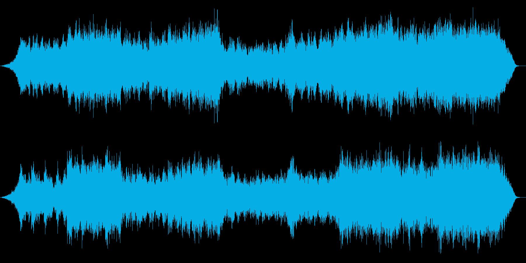 壮大なフルオーケストラの再生済みの波形