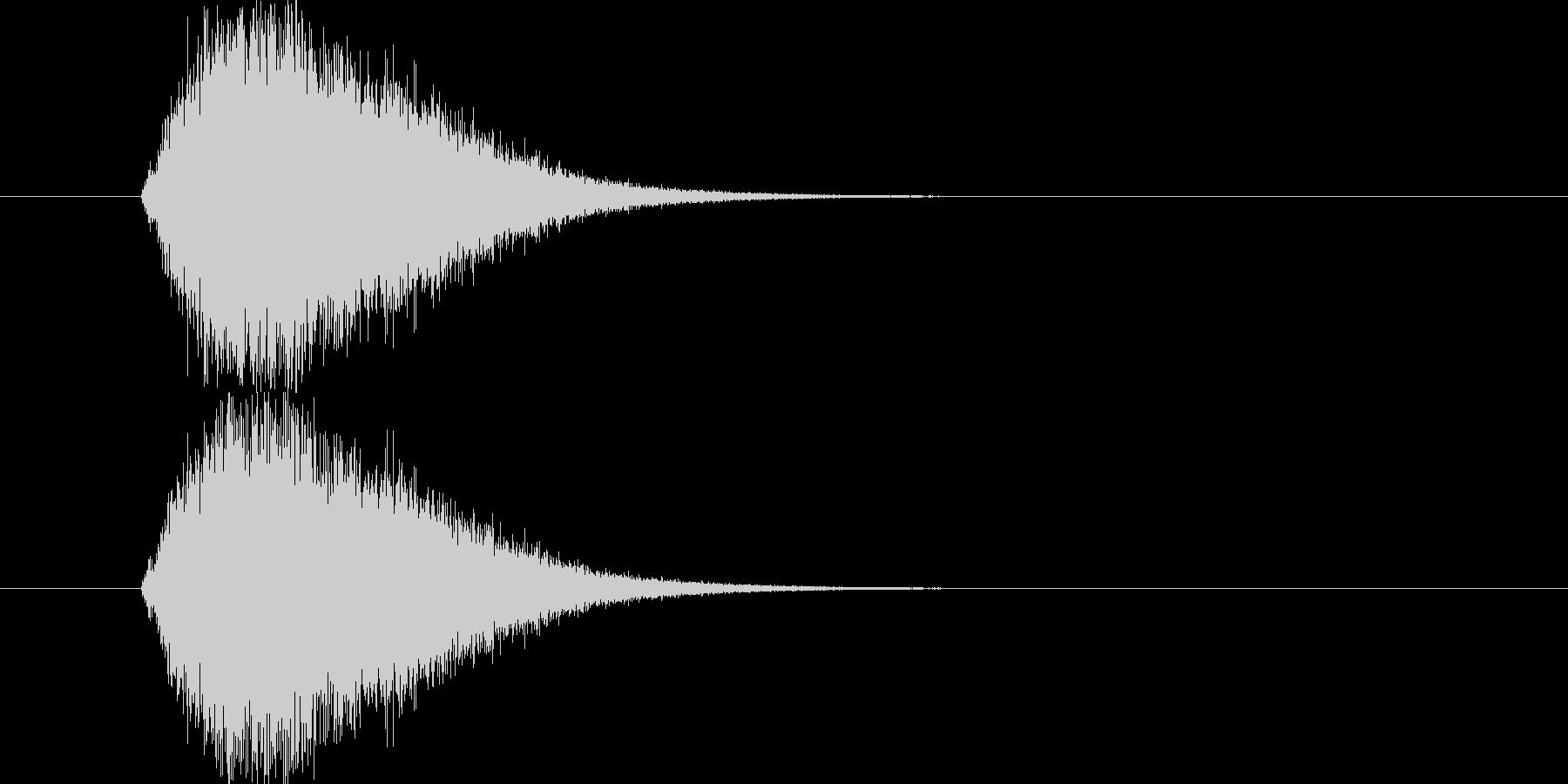 ジャンプ音です。ややスローな動画に合い…の未再生の波形