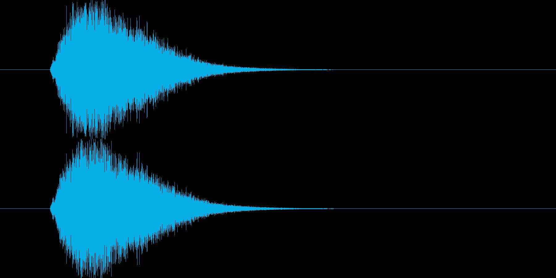 ジャンプ音です。ややスローな動画に合い…の再生済みの波形