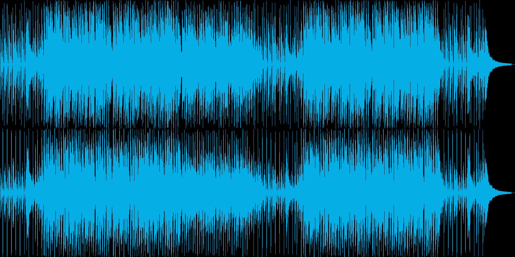 ほのぼのハッピーなアコースティックBGMの再生済みの波形