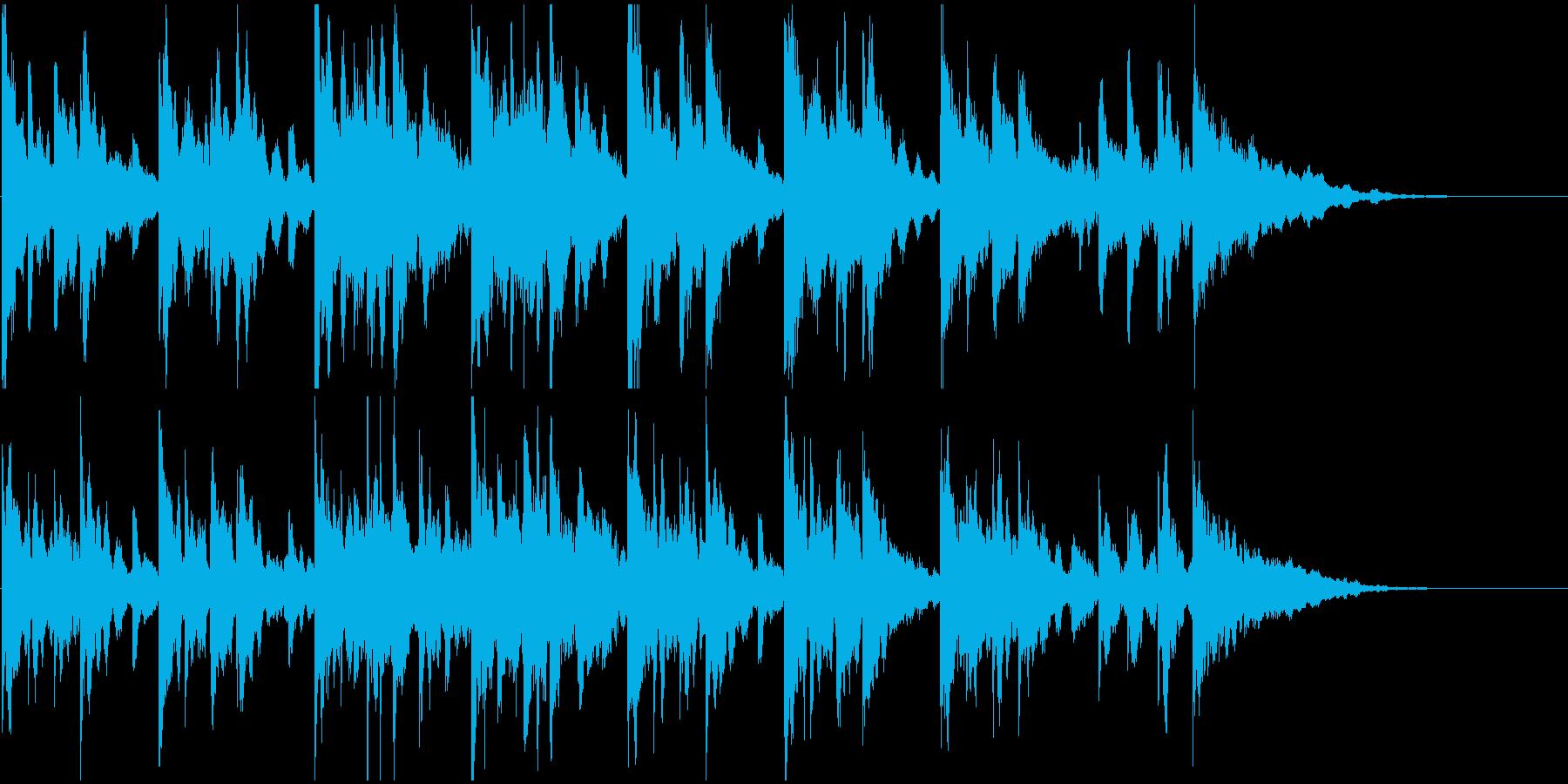 不気味、謎っぽいBGM・ジングルの再生済みの波形