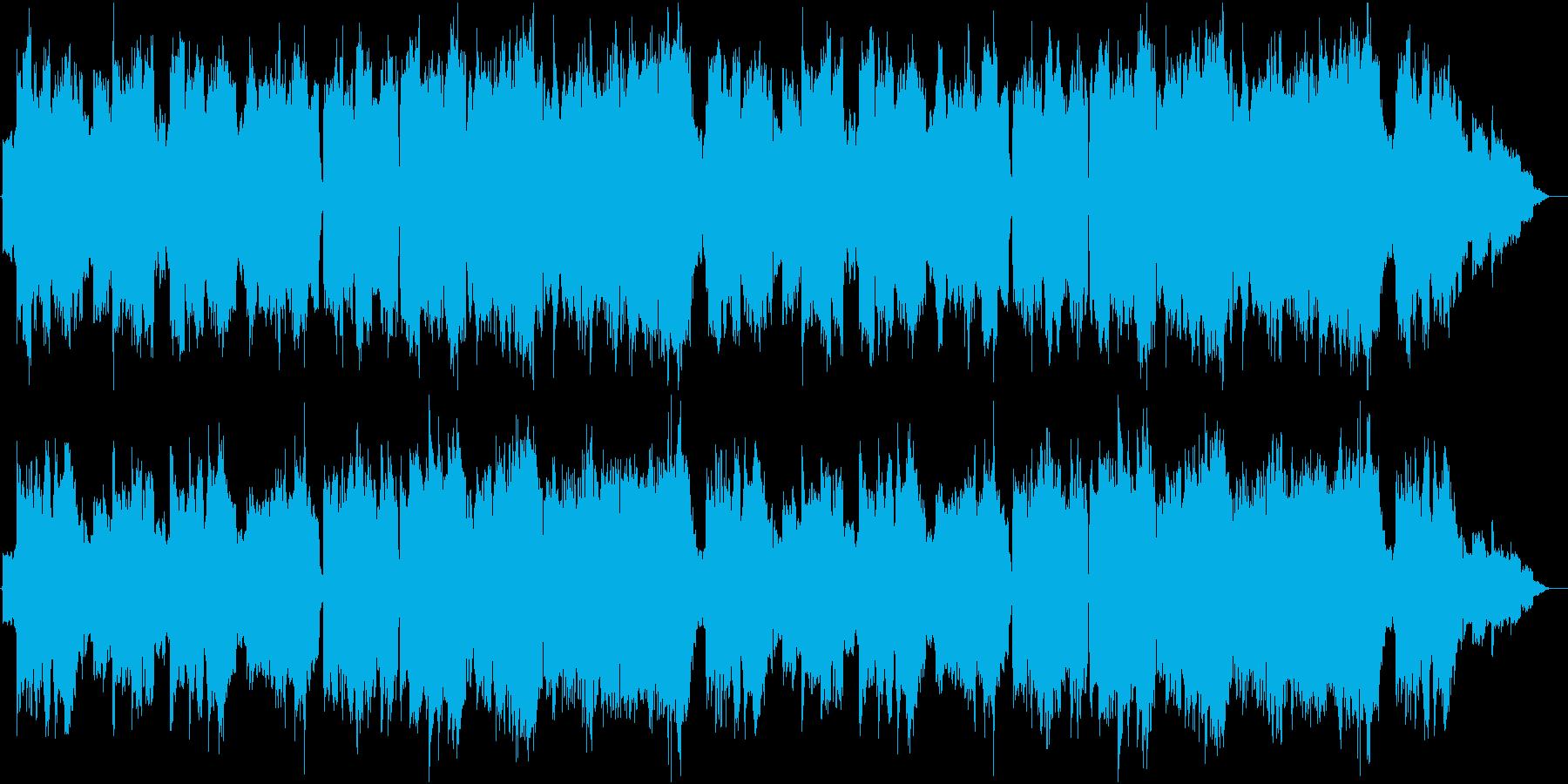 木管とストリングス主体の優しい曲の再生済みの波形