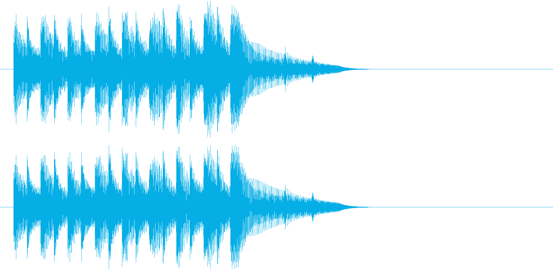 落下するイメージのほのぼのしたジングルの再生済みの波形