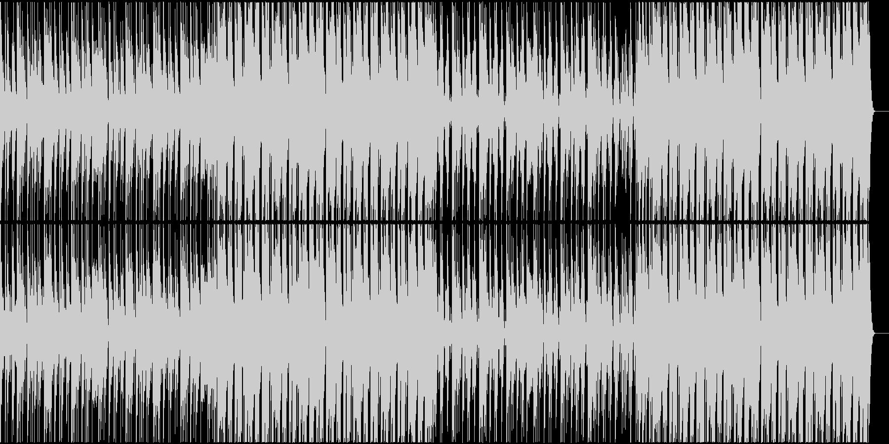 生き生きと楽しい感じのBGMの未再生の波形