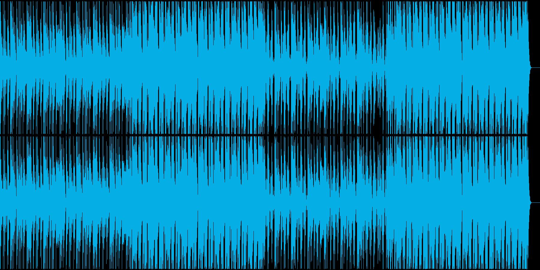 生き生きと楽しい感じのBGMの再生済みの波形