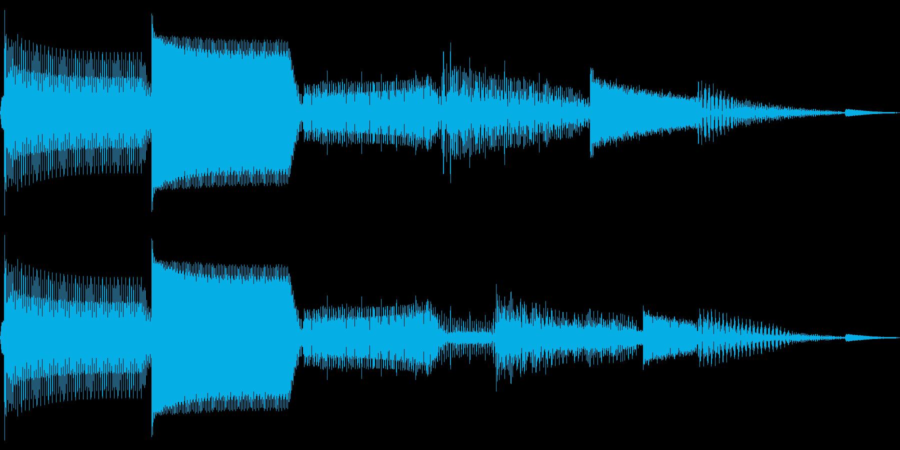ピロロロ(決定 カーソル移動 スワイプ)の再生済みの波形