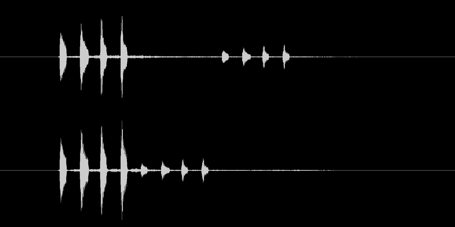 カンカンカン(金属、楽器)の未再生の波形