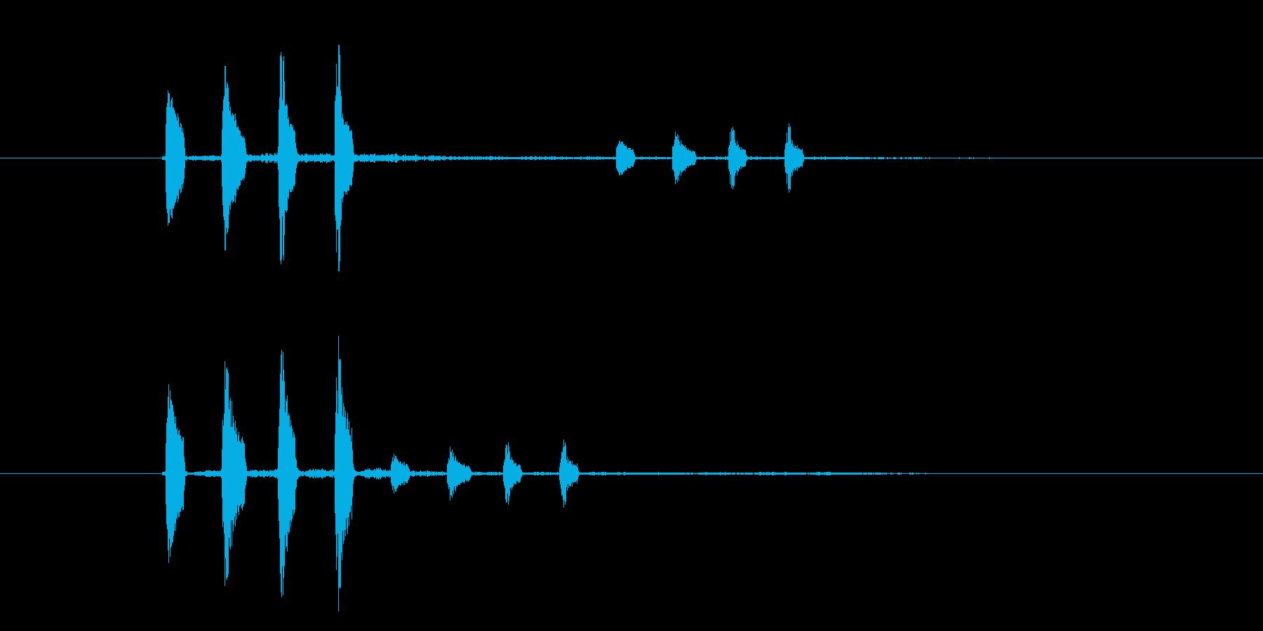 カンカンカン(金属、楽器)の再生済みの波形