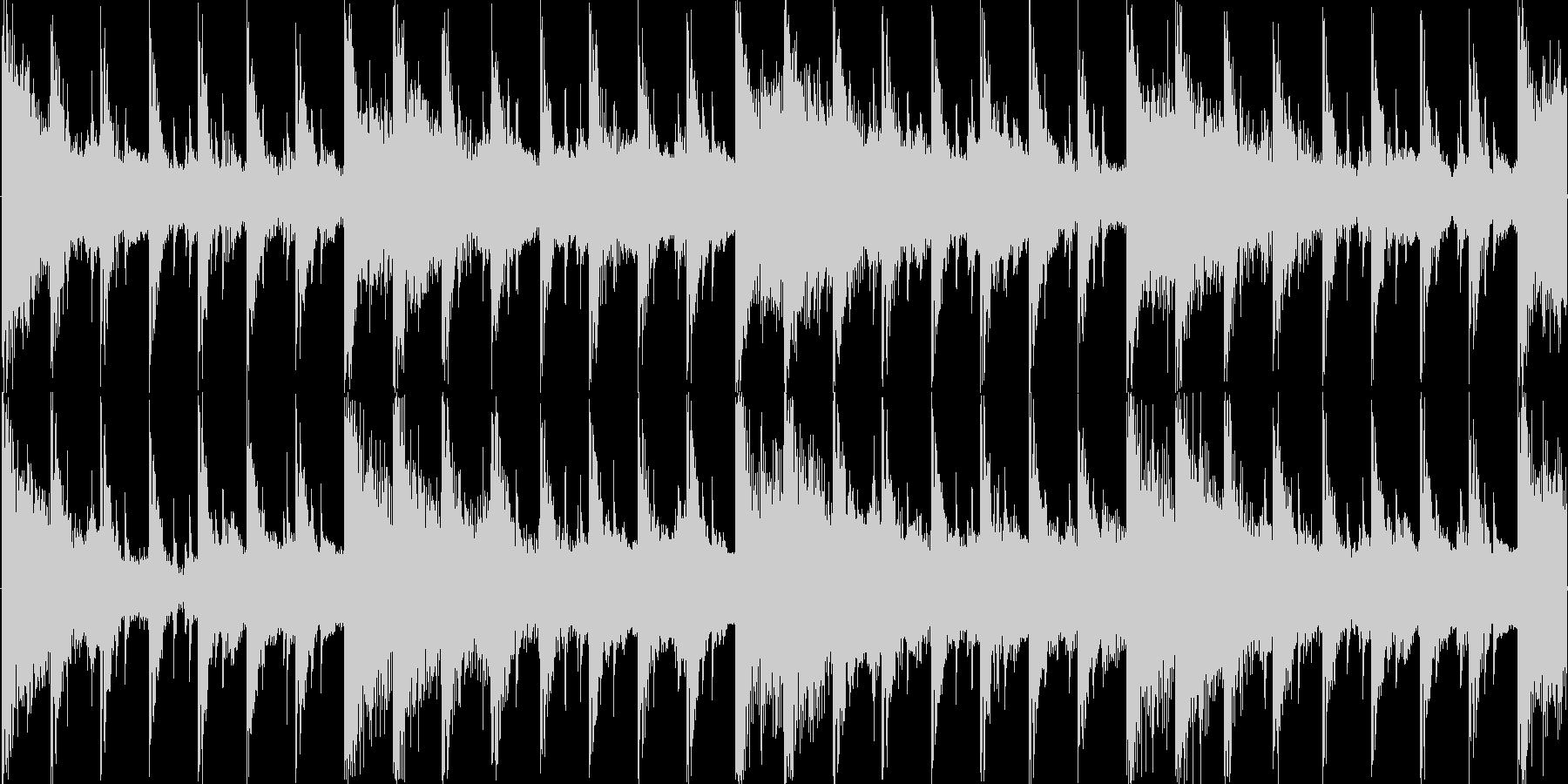 ハウス風のリズムを基調としたループ楽曲…の未再生の波形