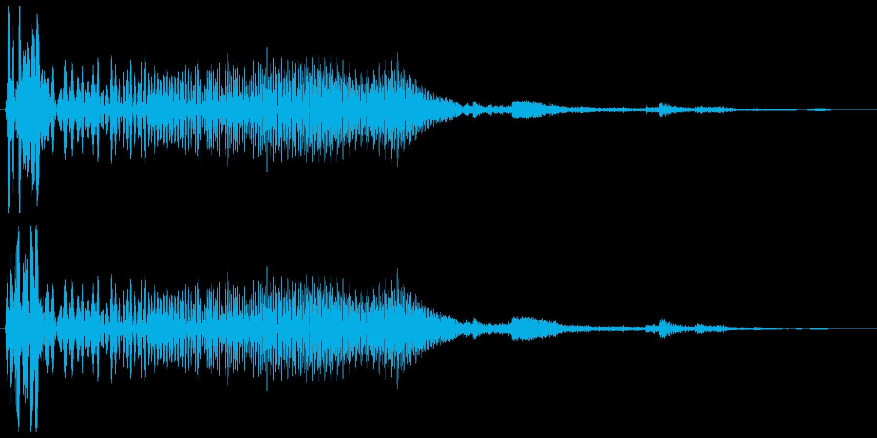 ウイーンガッチャン(機械の動作音)の再生済みの波形
