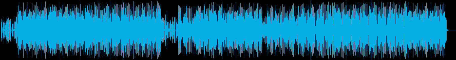 軽快で近未来的なテクノポップスの再生済みの波形