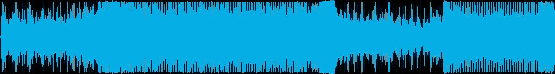 戦闘をイメージさせるトランスの再生済みの波形