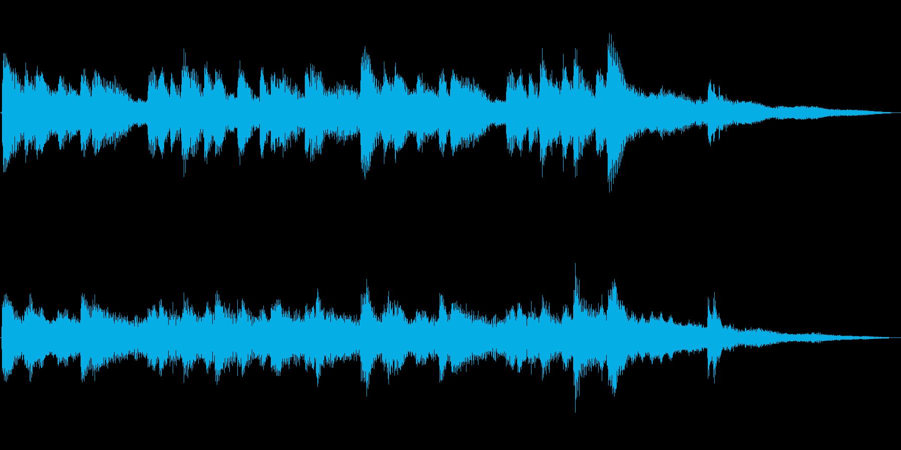 番組の最中に場面(雰囲気)が切り替わる…の再生済みの波形