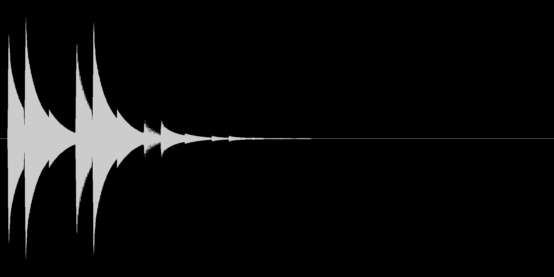 ピロリッ...(決定、起動音)の未再生の波形