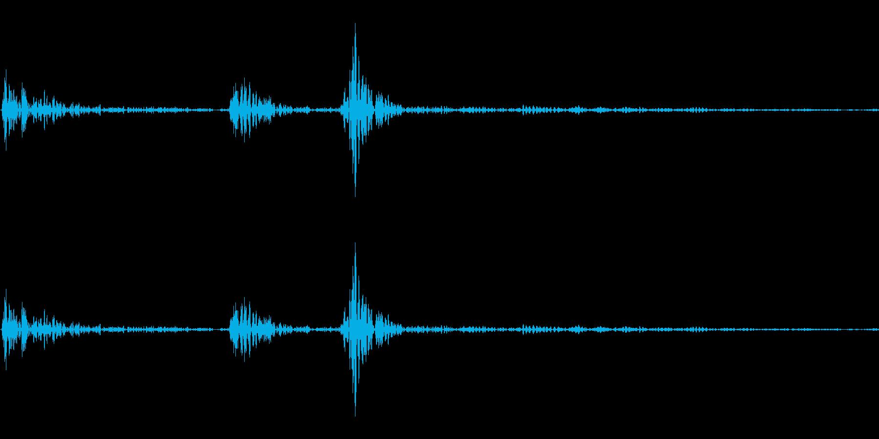 カチッ(装着/スイッチ/セット)の再生済みの波形