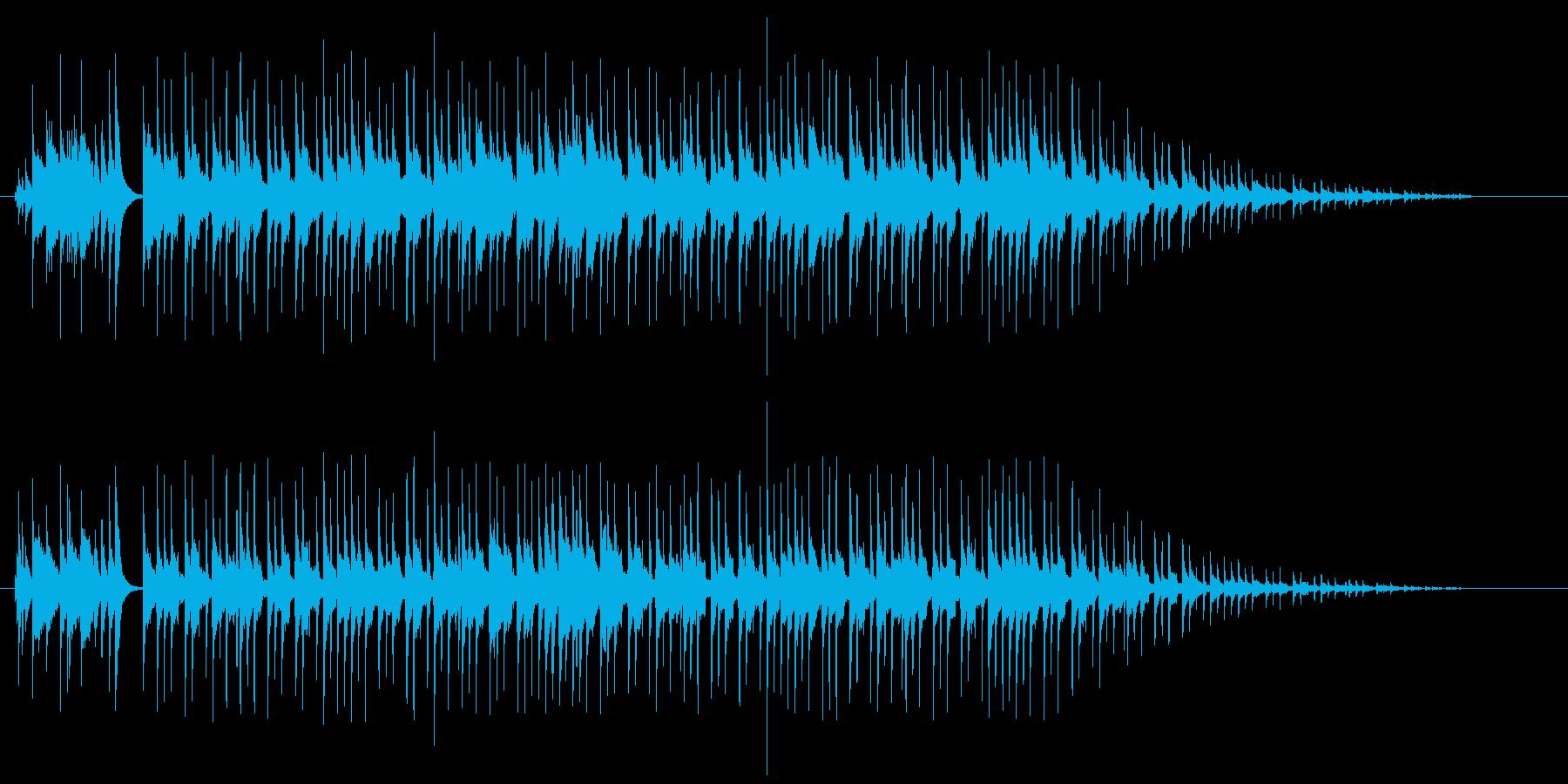 明るいポップスの再生済みの波形