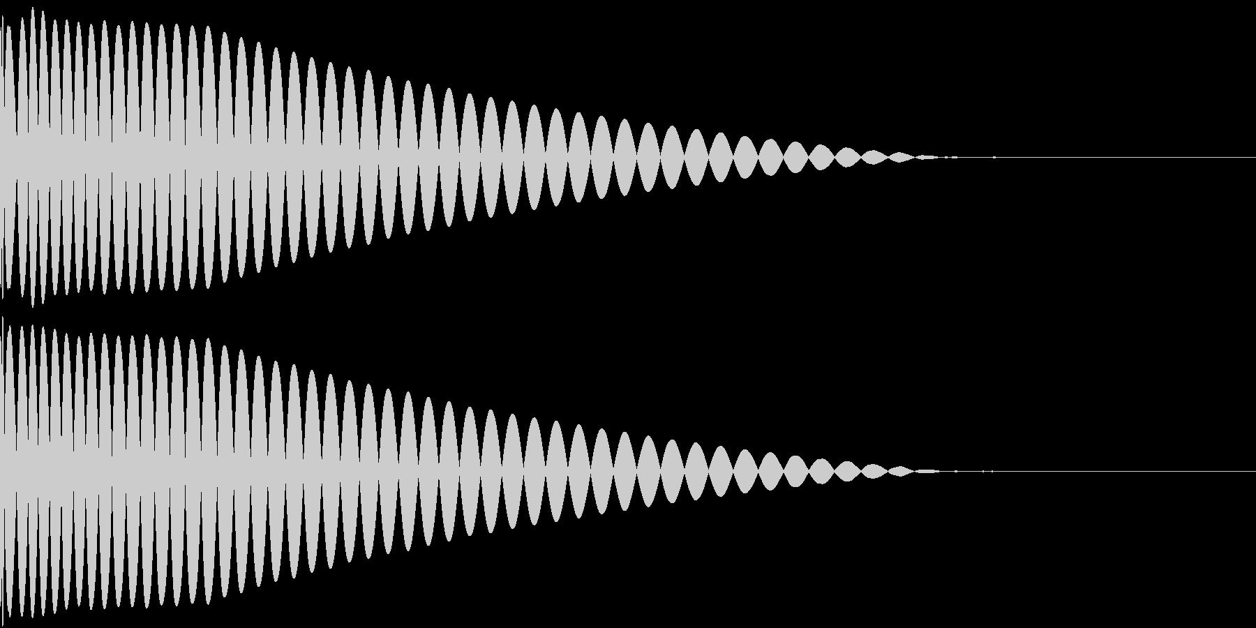 DTM Kick 8 オリジナル音源の未再生の波形
