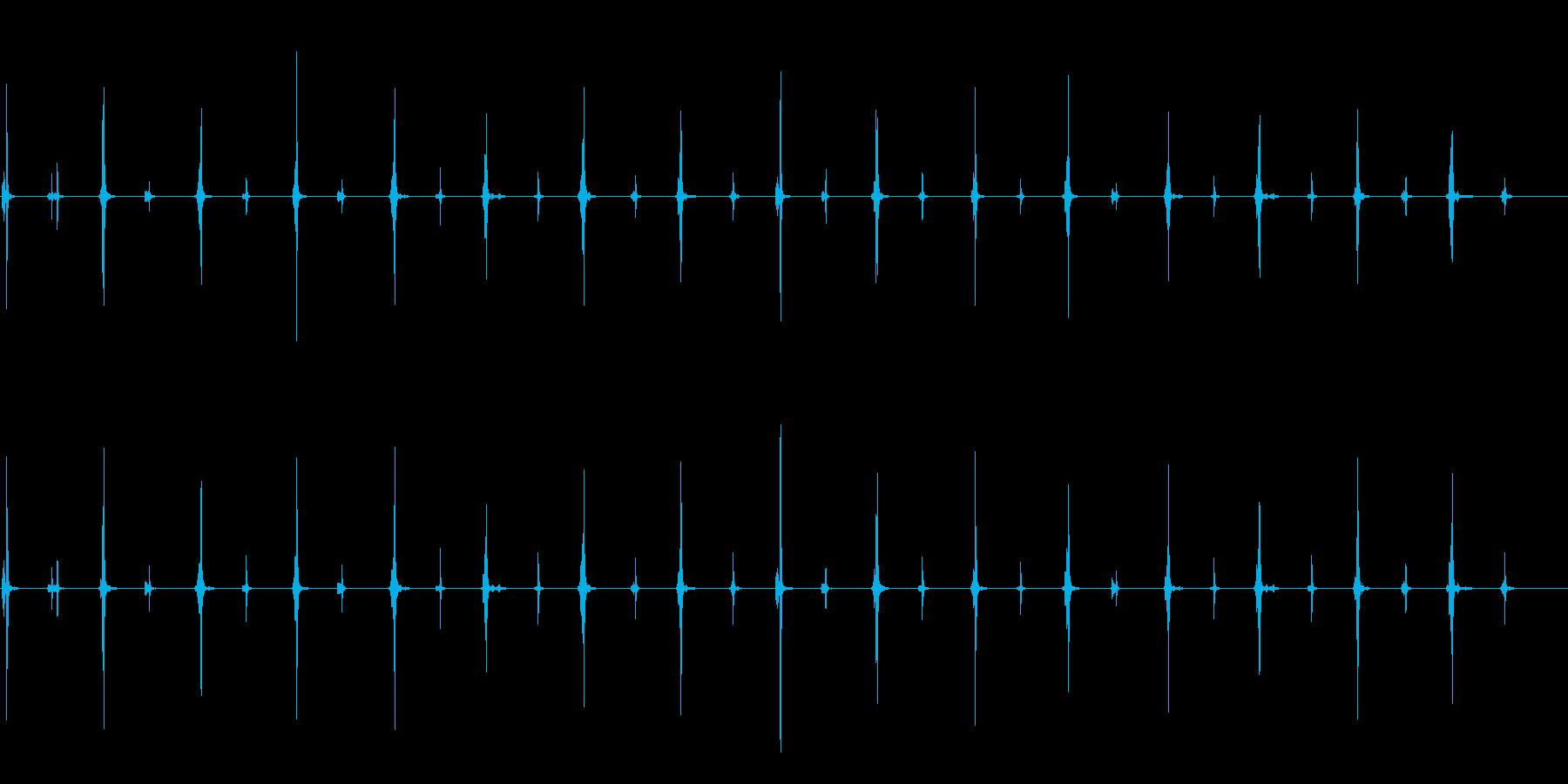 シンプルな時計 クロック音の再生済みの波形