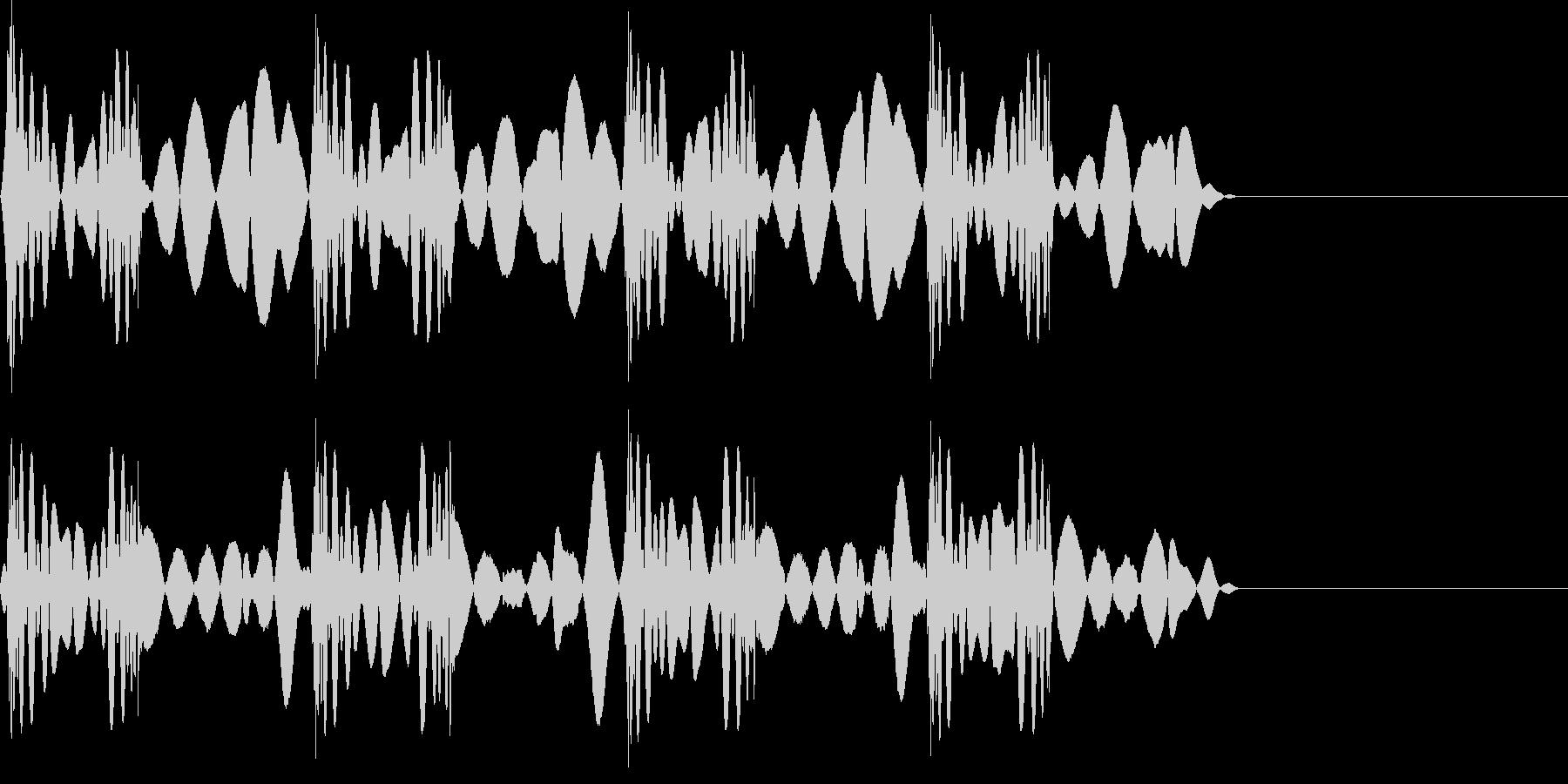 スクラッチ 音 こすり4回の未再生の波形