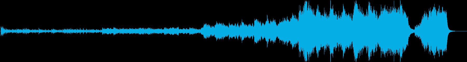 ピアノソロから次第に壮大になるバラードの再生済みの波形