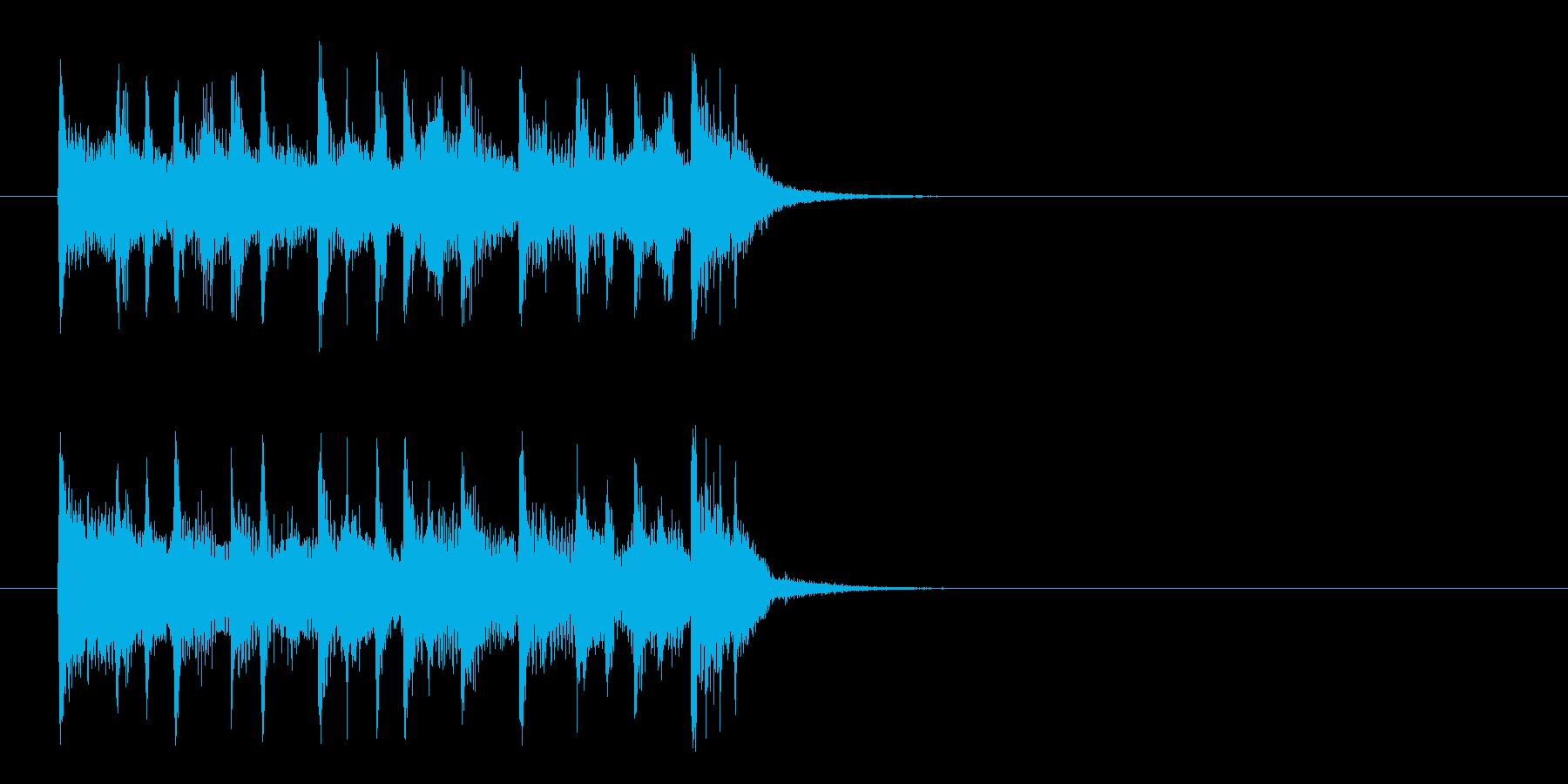 ジングル(深刻なドキュメント風)の再生済みの波形