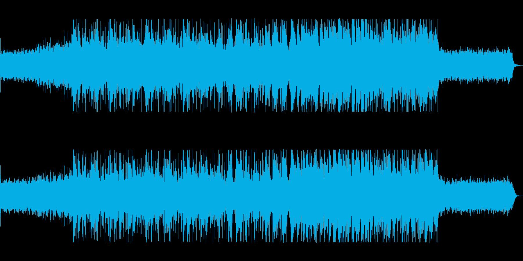 落ち着くゆったりとしたシンセサイザー曲の再生済みの波形