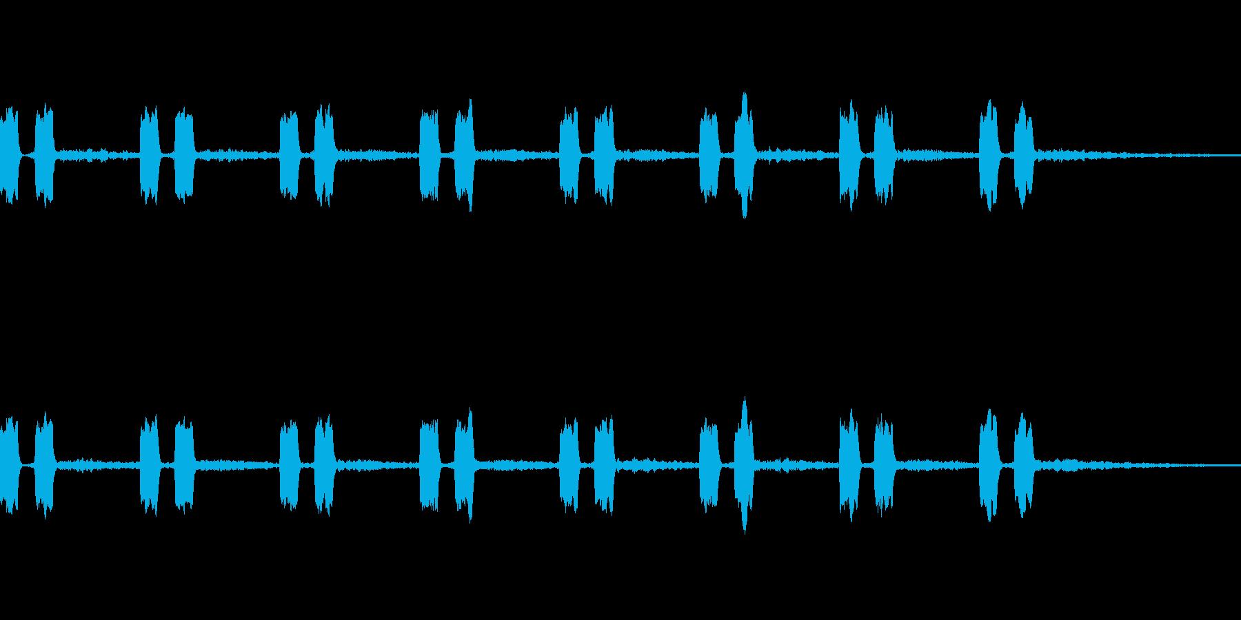 ピピッ、ピピッ、の再生済みの波形