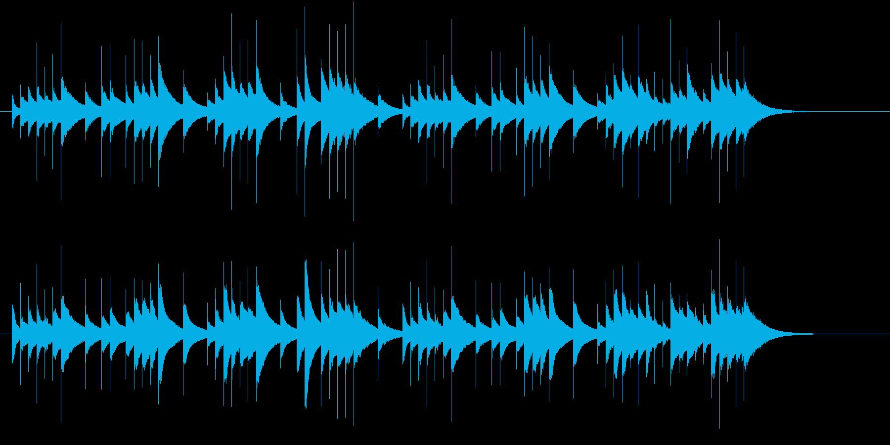 ファンタジーなオルゴール曲の再生済みの波形