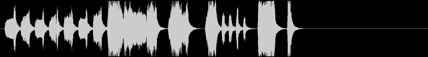 軽快で楽しいおどけたアコーディオンの未再生の波形