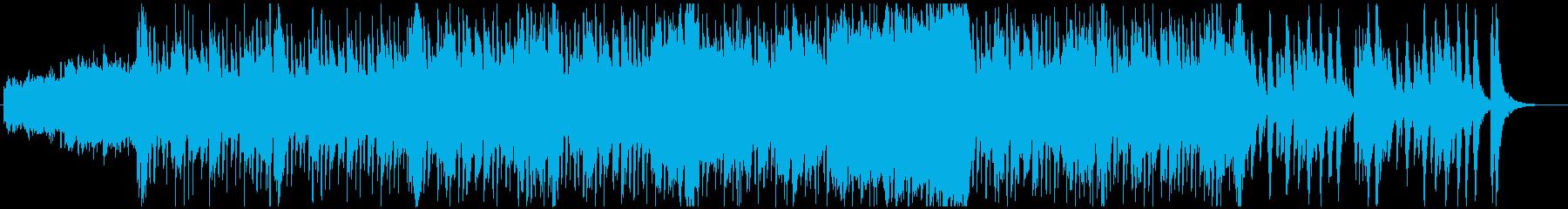 オーケストラ編成の明るい楽曲の再生済みの波形