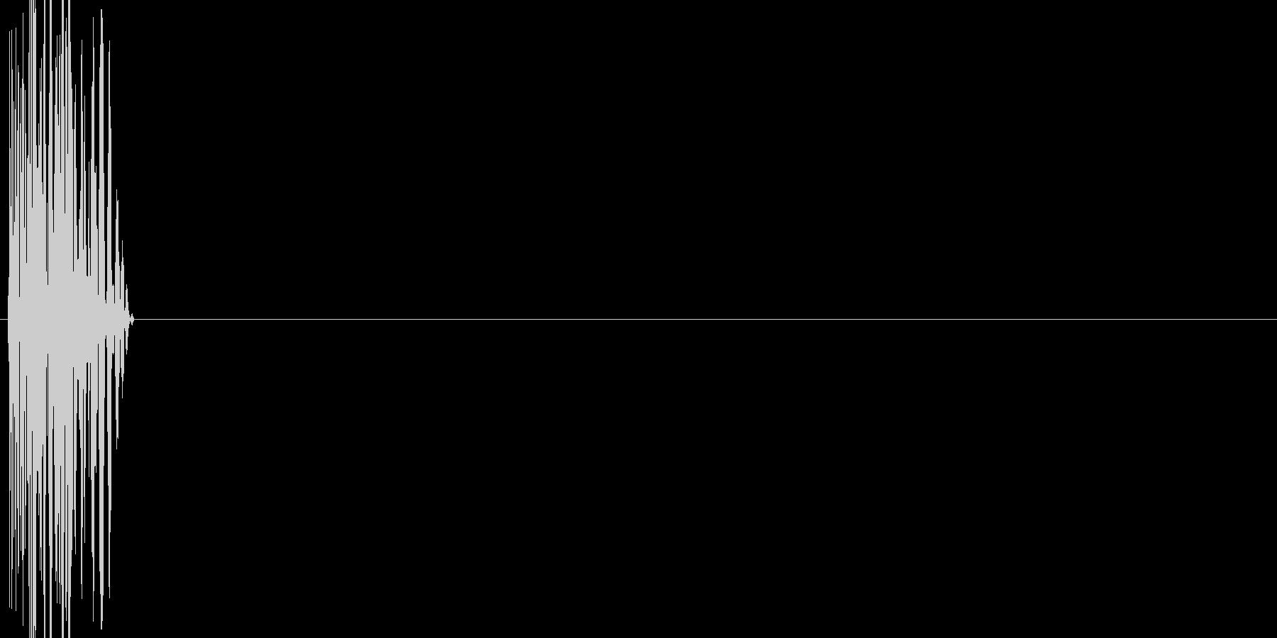 ボタン・カーソル・操作音 「コッ」の未再生の波形