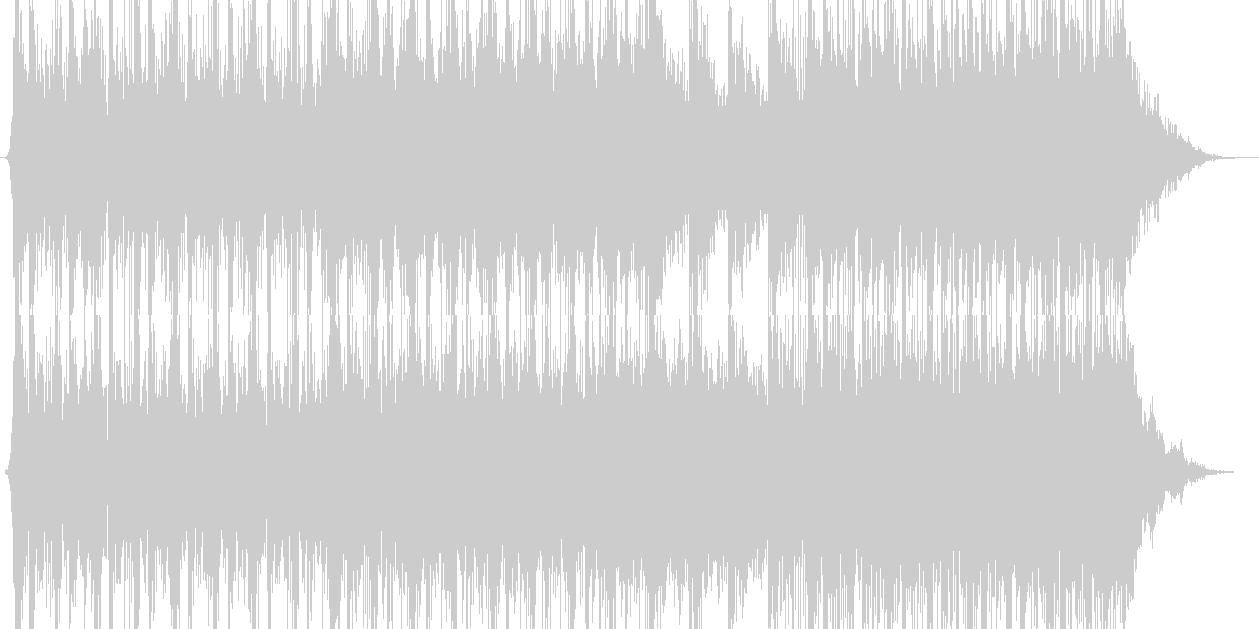 和太鼓の激しいシリアス・サスペンスな曲調の未再生の波形