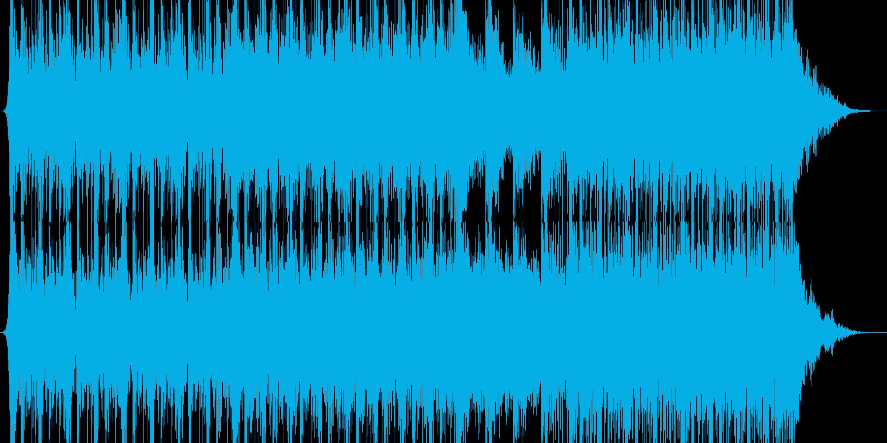 和太鼓の激しいシリアス・サスペンスな曲調の再生済みの波形