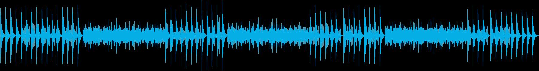 秋の木陰をイメージしたピアノ曲の再生済みの波形
