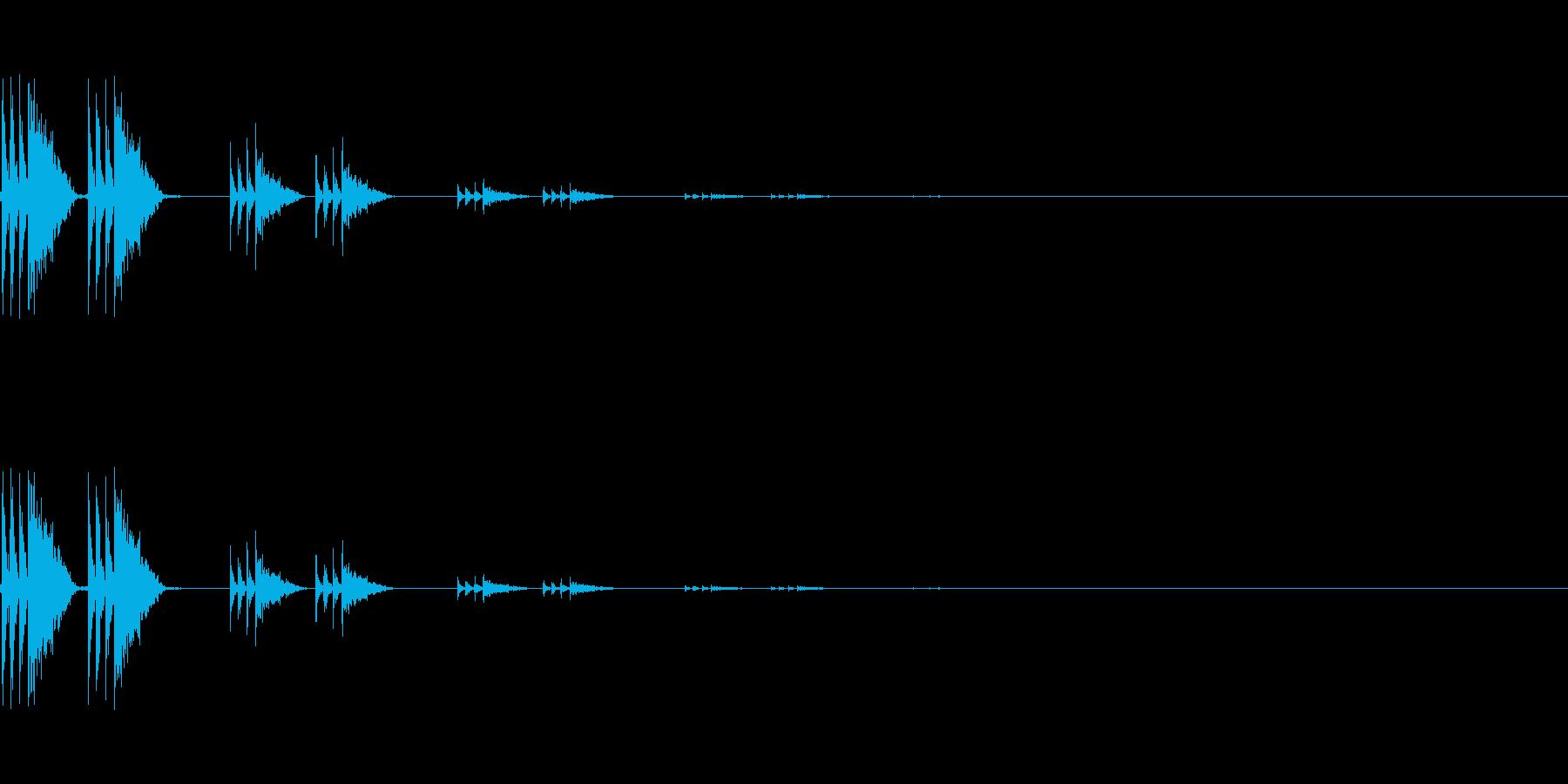 【アクセント04-4】の再生済みの波形