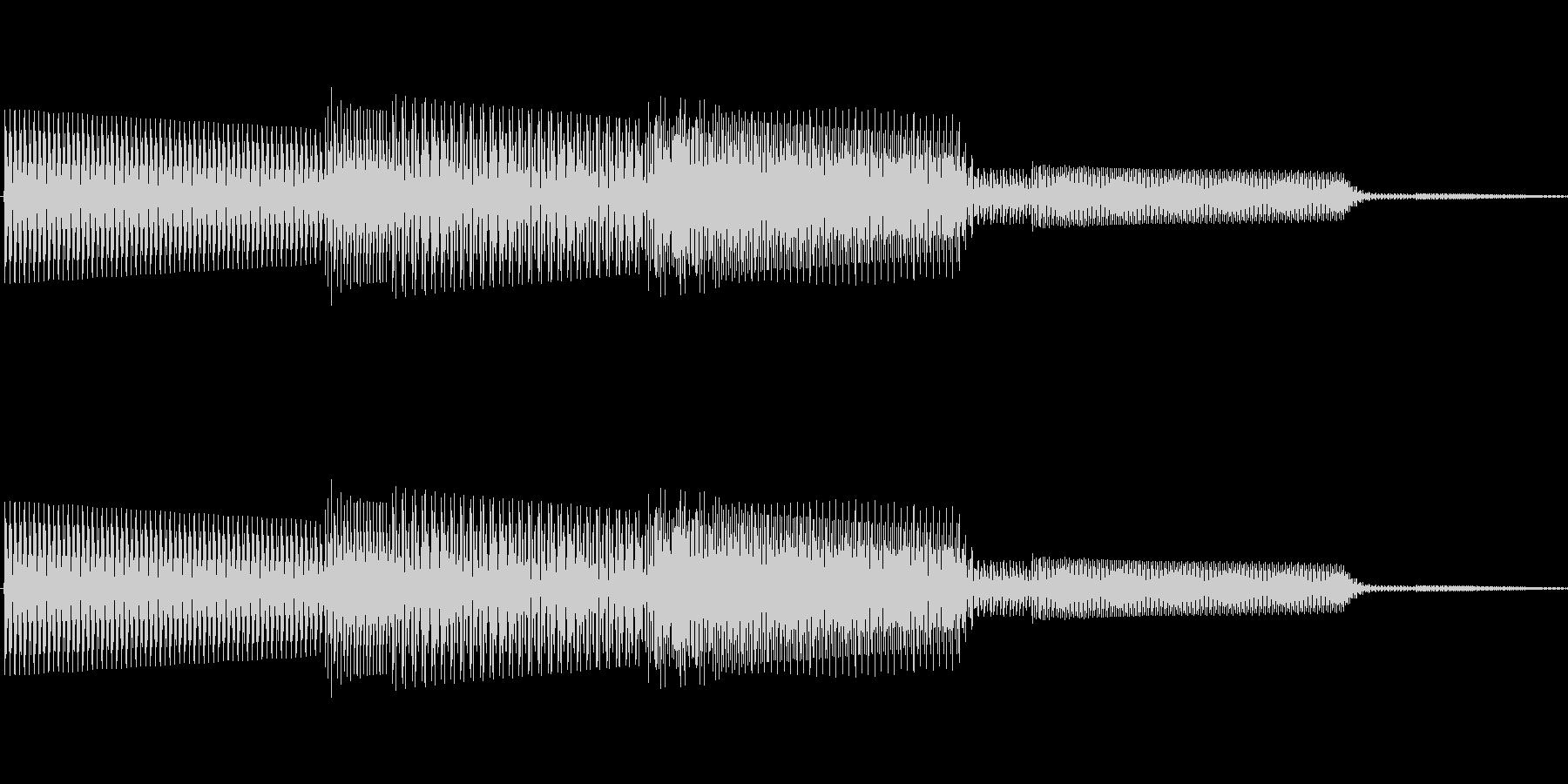 ボタン決定音システム選択タッチ登録B11の未再生の波形