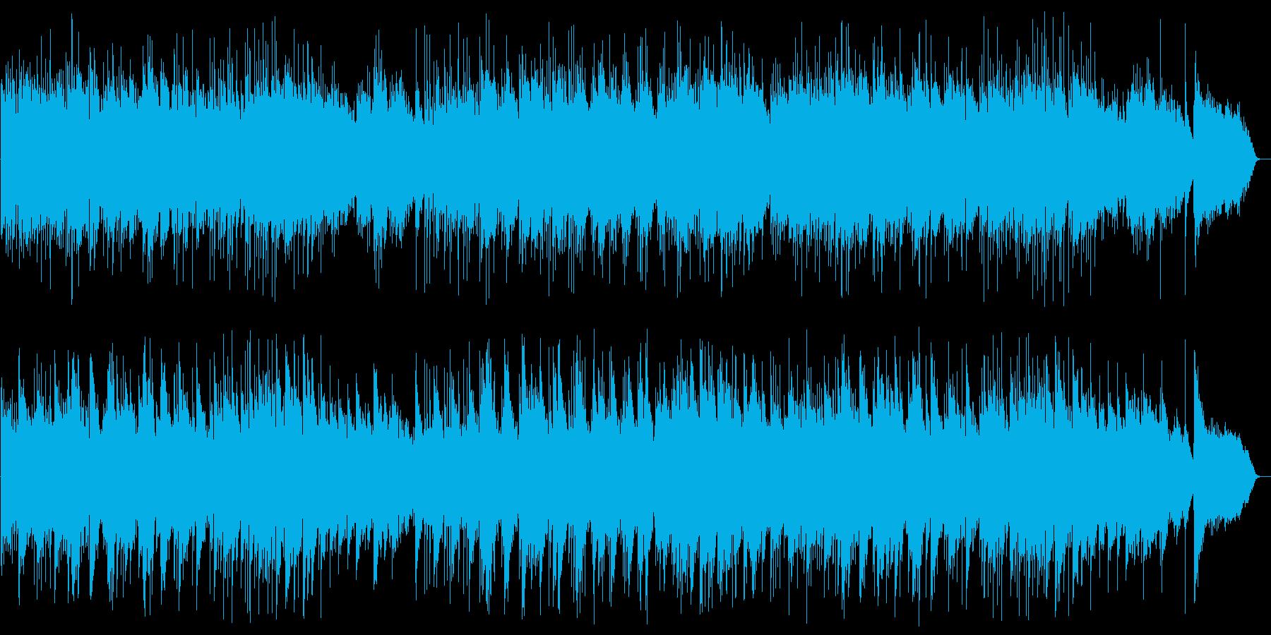 アコースティックギターのヒーリングの再生済みの波形