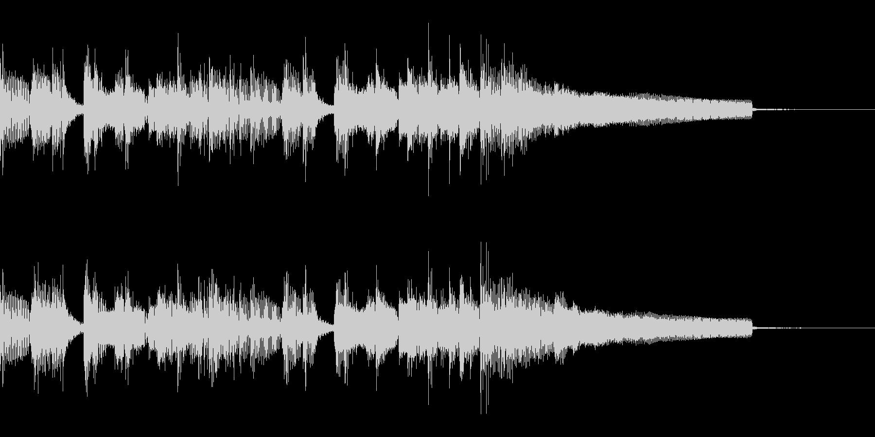 ジャズ風のおしゃれなラジオ向けジングルの未再生の波形