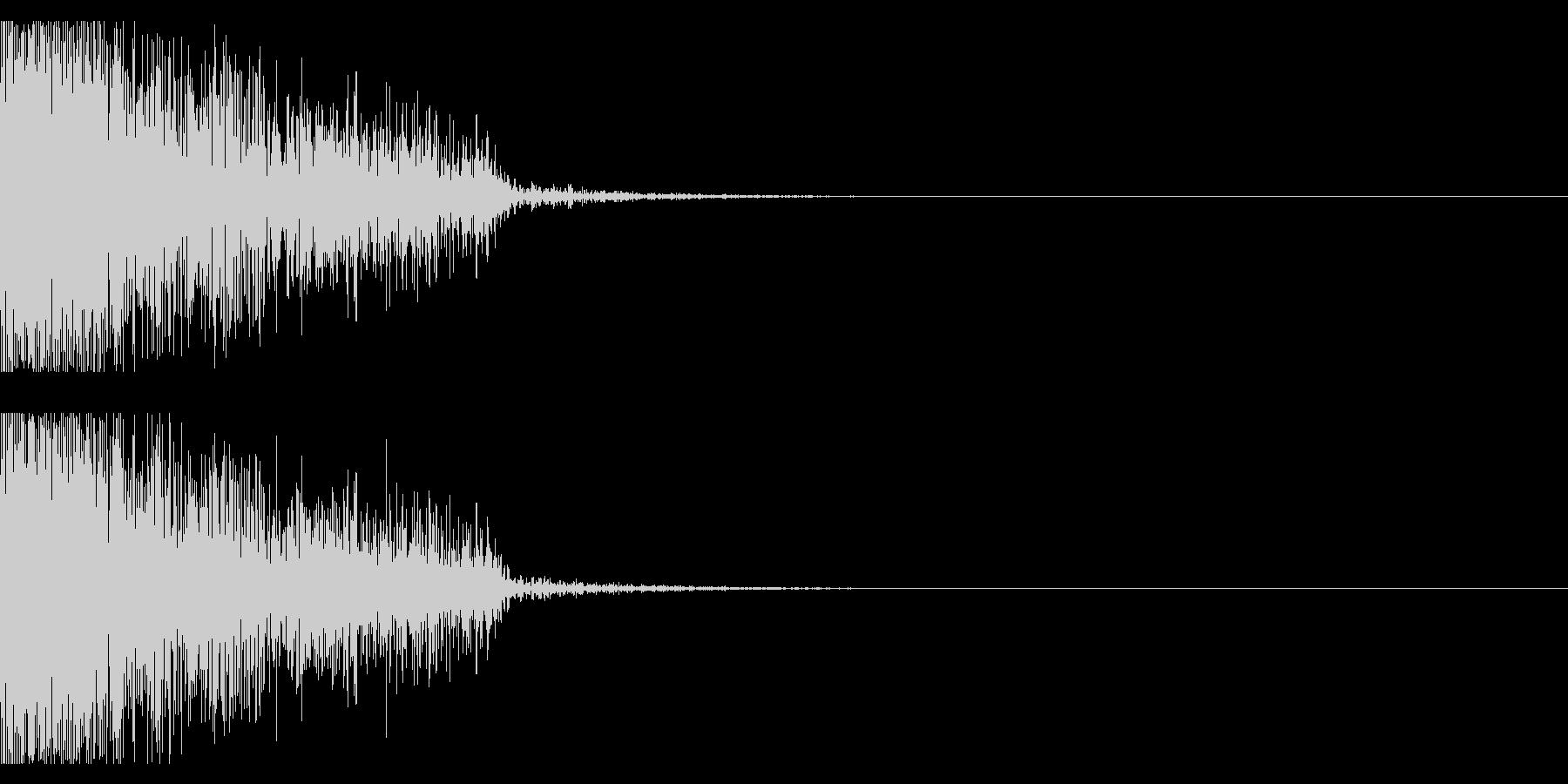ビックリ音03(ジャン!)の未再生の波形