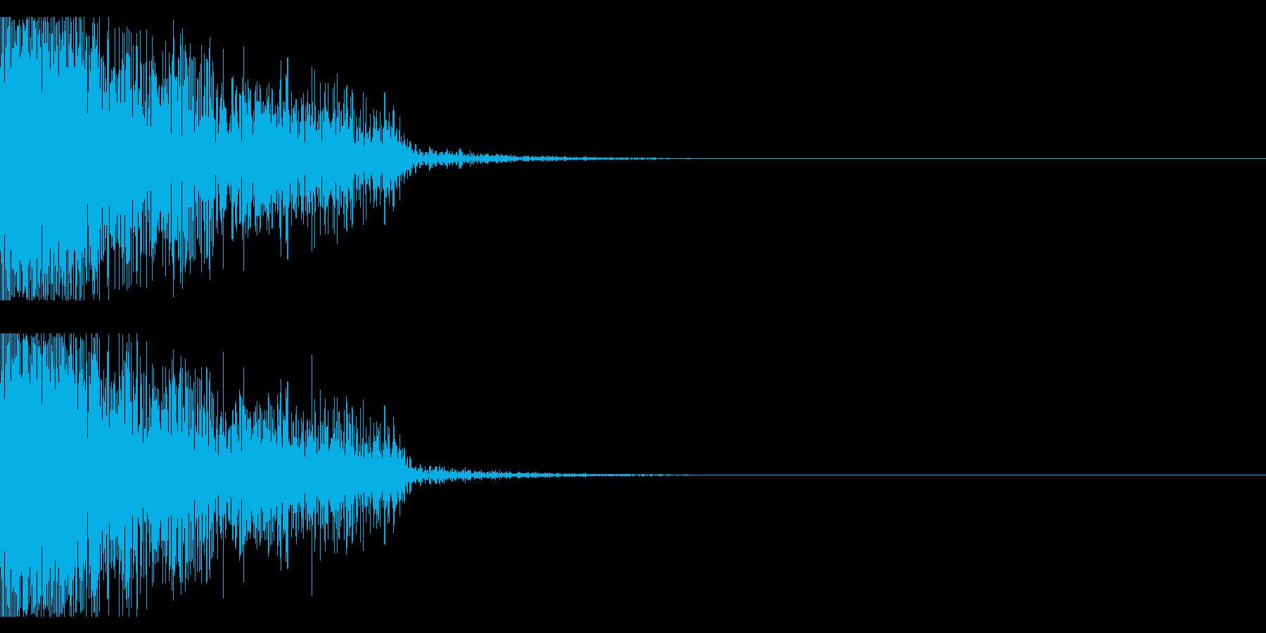 ビックリ音03(ジャン!)の再生済みの波形