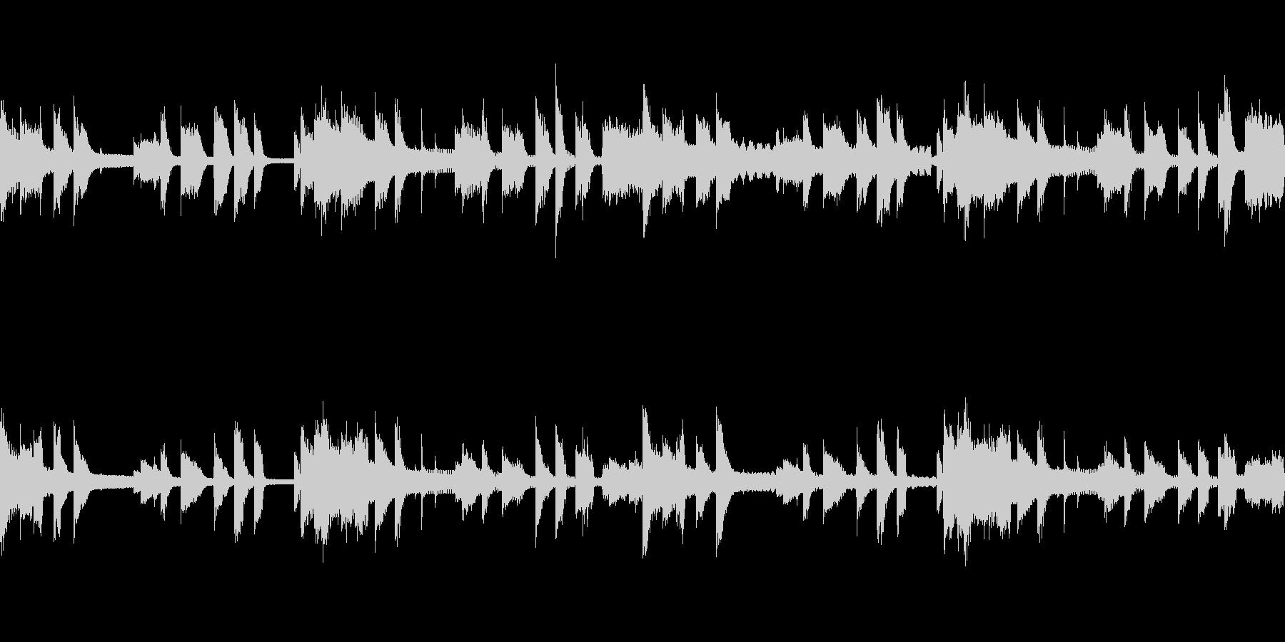 ピアノとオーボエのゆったりしたループ素材の未再生の波形