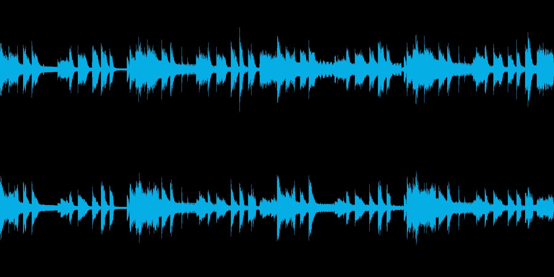 ピアノとオーボエのゆったりしたループ素材の再生済みの波形