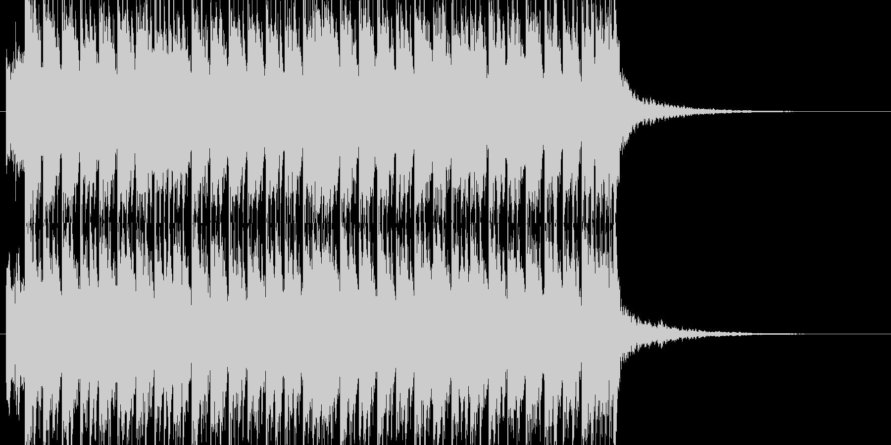 トランスPOP風ジングルの未再生の波形
