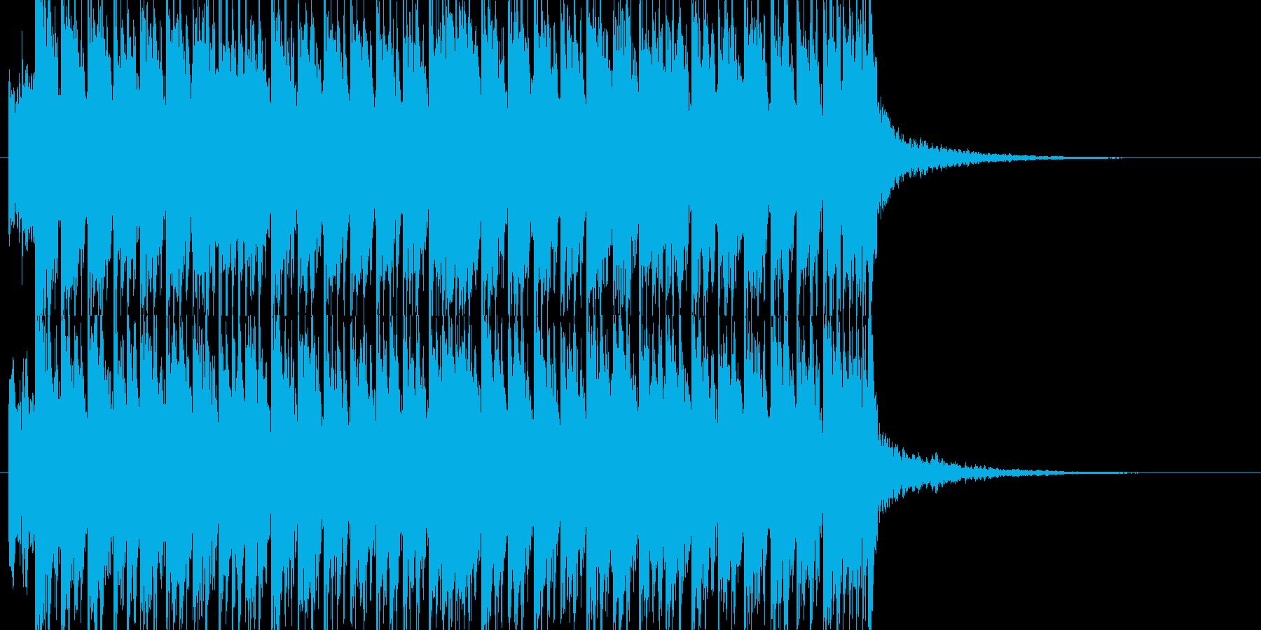 トランスPOP風ジングルの再生済みの波形