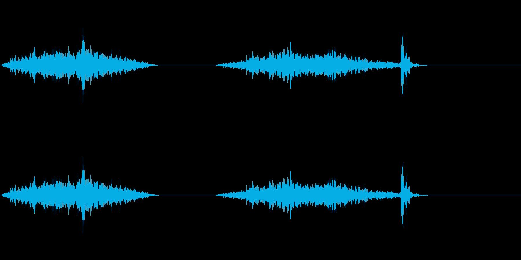 襖・障子の開閉(ゆっくり)の再生済みの波形